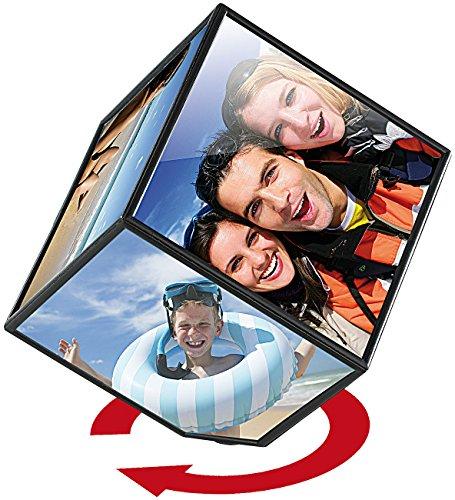 Your Design Bilderwürfel: Selbstdrehender Fotowürfel für 6 Bildmotive (Bilderwürfel mit eigenen Fotos)