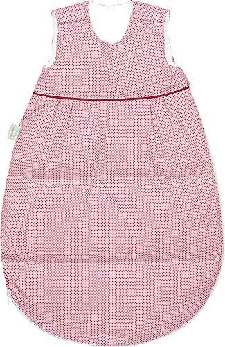 Set Odenwälder Daunen-Schlafsack mit Stoffwindel von Kinderhaus Blaubär/Winter Baby-Schlafsack mit Premiumdaunen längenverstellbar, Größe:110, Design:Square rot
