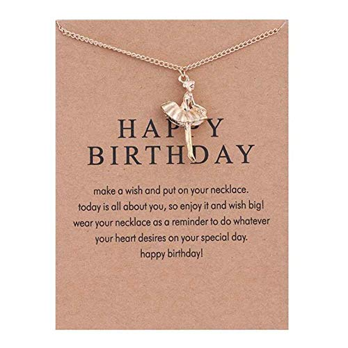 Retro Vintage Inspirational Charm Cocktail Party Necklace Birthday Gifts (HAPPY BIRTHDAY)