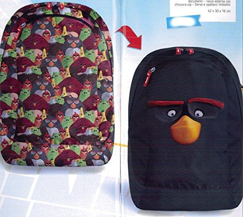Zaino Reversibile Nero Angry Birds Teen