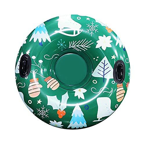 Tubo de nieve inflable de 47 pulgadas, resistente, resistente al desgaste, de PVC, tubos de trineo inflables, juguetes, juegos de deportes de invierno al aire libre, suministros para familias, niños