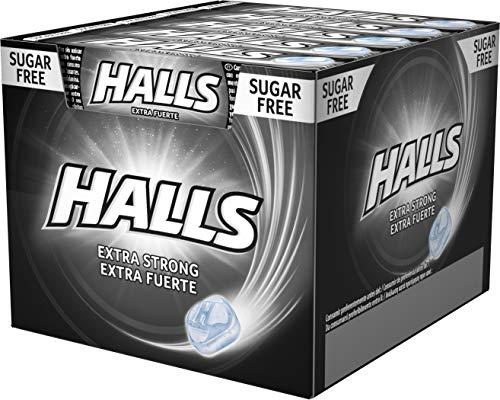 Halls Menta Fuerte - Caramelo duro - Caja con 20 unidades x 32g (total de 640g)