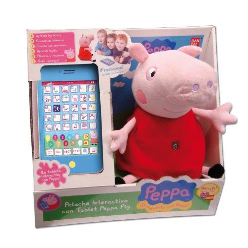 Peppa Pig - Peluche Interactivo con Tablet (Voz en castellano)
