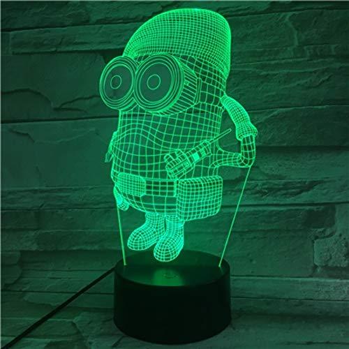 Sanzangtang Led-nachtlampje, 3D-vision-septkleuren, afstandsbediening, uniek nachtlampje voor kinderen, nachtlampje, kinderkamer, decoratie, nachtlampje, jongens, cadeau