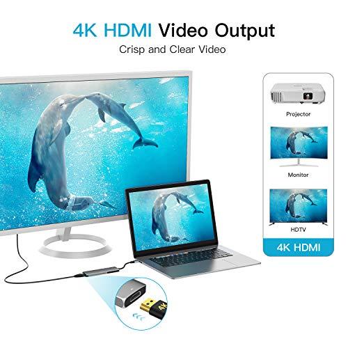 SenPuSi USB C Hub 6 in 1 Type C Adapter Dex Station mit HDMI 4K, 2 USB 3.0, Type C PD 87W, SD/Micro SD Kartenleser Ports für Laptop MacBook Pro 2018/2017 Samsung Galaxy S8 Huawei Type C Geräte