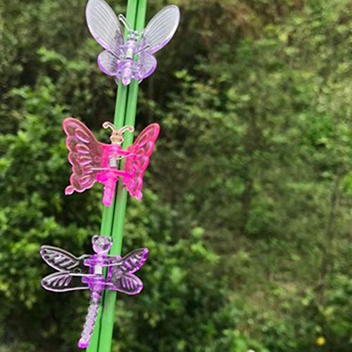 DUTUI 50PCS,Blumenclip Pflanze Orchidee Blume Fester Clip, Schmetterlingsform, Stützclip Rebe Tomatenkürbis, Langlebig, Wiederverwendbar,Mixed 50