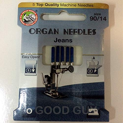 Great Deal! ShineBear Domestic Sewing Machine Needles Organ Needles Jeans for Jeans Denim Fabric 1pa...