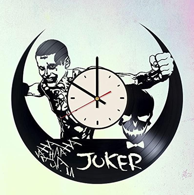Joker Villain Vinyl Wall Clock DC Comics Unique Gifts Living Room Home Decor