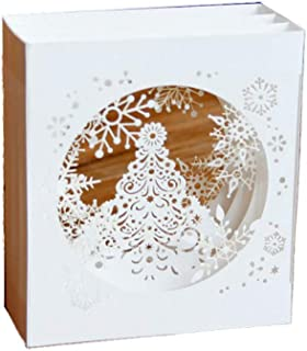 3D Greeting Card Christmas Day Blessing Card Snowflake Greeting Card Thanksgiving Christmas Card (10Pcs) 12.3114.6Cm