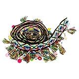 D DOLITY 1 Yard Pompon Balle Gland Frange Garniture Jacquard Ruban Couture Appliques Artisanat