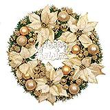 HARLIANGXY - Ghirlanda Natalizia, 30 cm/40 cm, Decorazione per la casa con Bacche di Pino ...