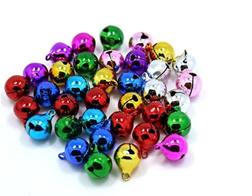 Demarkt Cascabeles campanas abrazaderas con ojete Mix Color, metal, 6mm, 6mm
