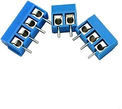 20 x 2 Pin, 20 x 3 Pin, 20 x 4 Pin,Blue CenryKay 60PCS 2 Pin 3 Pin 4 Pin PCB Mount Screw Terminal Block Connectors,Socket Strips 5.08mm Pitch for Arduino