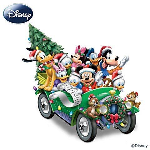 The Bradford Exchange Es war einmal an Weihnachten - Beleuchtete Skulptur mit Disney-Figuren und Musik