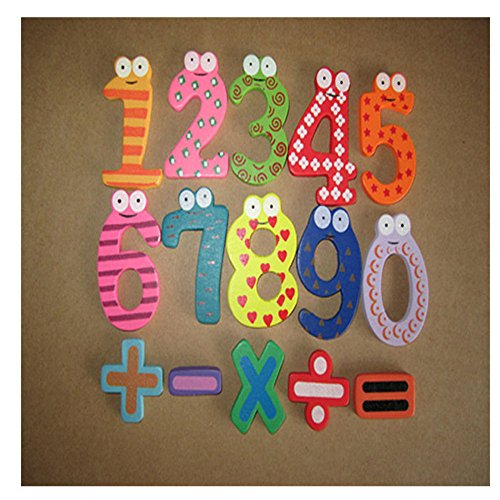 LandFox Educational Toy,Magnetic Wooden Numbers Math Set Digital Baby Educational Toy