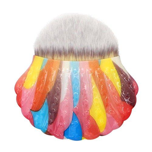 Kit de Pinceau maquillage Professionnel,Pinceau Shell Pro Maquillage Poudre CosméTique Contour Pinceau Maquillage (E)
