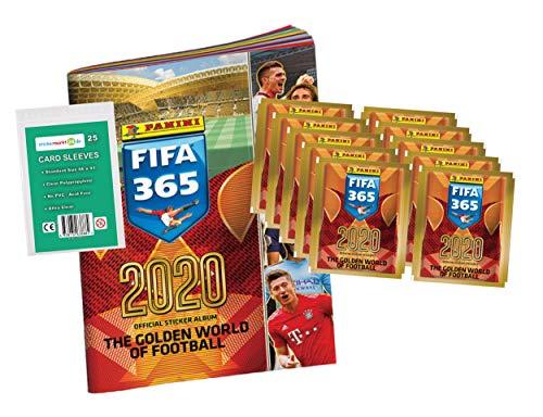 FIFA 365 Edition 2020 - Sticker - 1 Album + 10 Booster ( 50 Sammelsticker ) + stickermarkt24de Sleeves