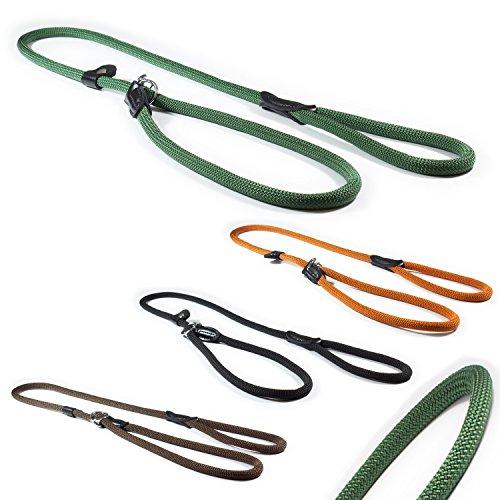 CarlCurt - Classic Line: Retriever-Hundeleine Aus Strapazierfähigem Nylon, Rund, 1,20m, Olive