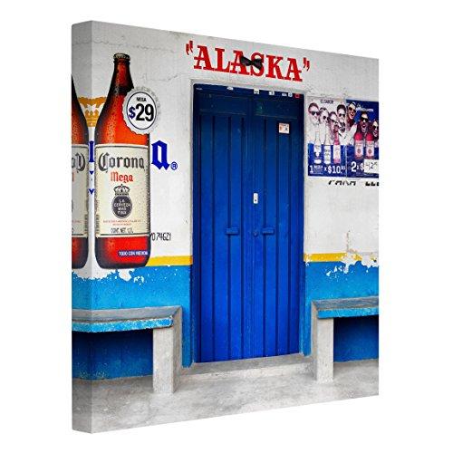 Bilderwelten Impression sur Toile - Alaska Blue Bar - Carré 1:1, Toile imprimée Toile Impression Photo sur Toile XXL décoration Murale Art Murale, Dimension: 100cm x 100cm
