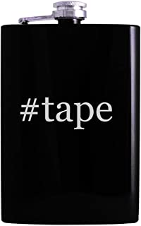 #tape - 8oz Hashtag Hip Alcohol Drinking Flask, Black