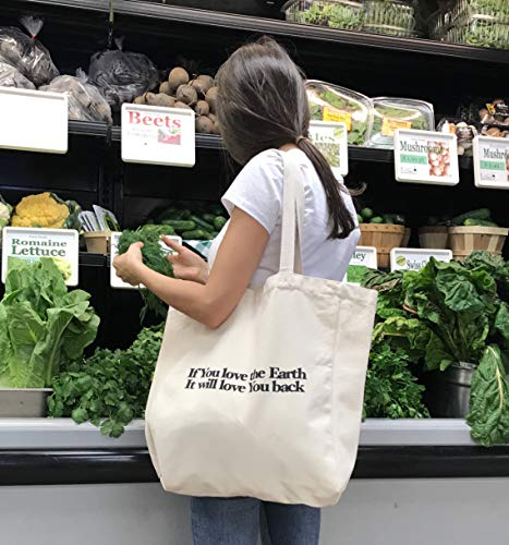 Heavy Duty 12 oz Cotton Shopping Bag Eco Friendly Multi Purpose Tote Cute Strong and Durable