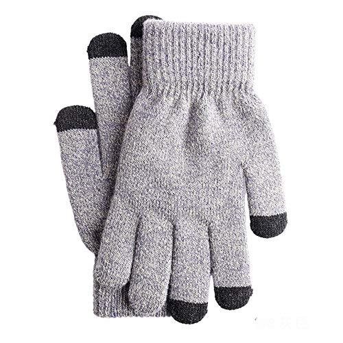 Herbst und Winter Neue Männer und Frauen warme Strickhandschuhe Plus Samt Plus Samt Plus Samt Touchscreen-Handschuhe Fitnesshandschuhe - G1200-G1202