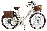 Canellini Dolce Vita by Bicicletta Via Veneto Bici Citybike CTB Donna Vintage Retro Alluminio Donna (46, Panna)