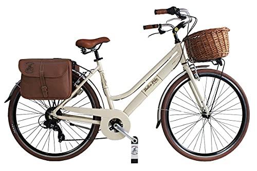 Canellini Via Veneto by Dolce Vita by Fahrrad Rad Citybike CTB Frau Vintage Retro Dolce Vita Aluminium (46, Beige)