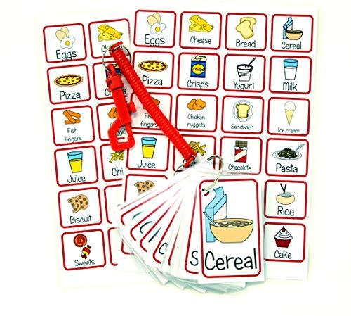 kids2learn Cartes de communication pour aliments et boissons, communications non verbales, autisme, discours