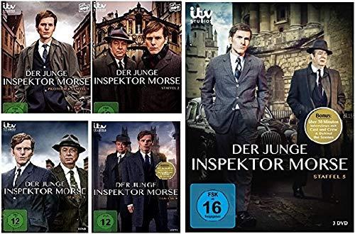 Der junge Inspektor Morse - Staffel / Season 1+2+3+4+5 im Set - [12 DVDs]