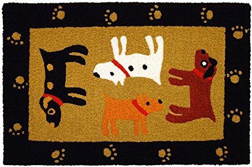 Home Comfort Jellybean Rug Woof Woof Black