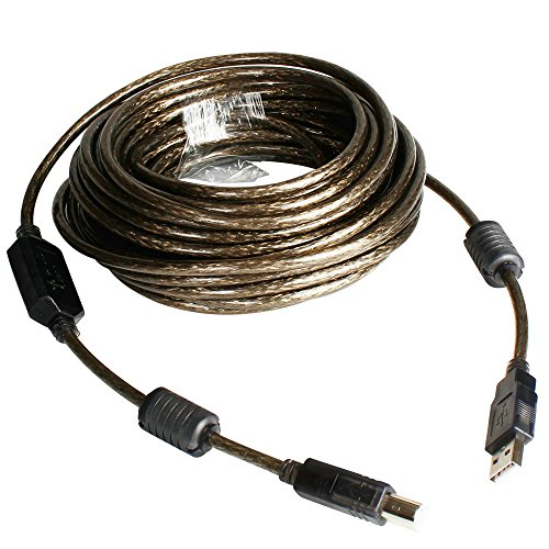 USB 2.0 - A-Male to B-Male Printer Cable - 32 Feet (10 Meters) High Speed Printer/Scanner/Repeater Cable