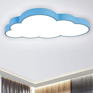 BFYLIN Regulable LED Lámpara Moderna Del Techo Lámpara De Techo Pasillo Salón Dormitorio De La Lámpara Ahorro De Cocina Ahorro De Energía Luz (azul -Nubes 64W)
