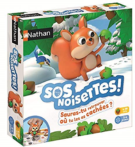 Nathan- SOS Noisettes-Jeu de Plateau pour Famille de 4 à 99 Ans, 31161