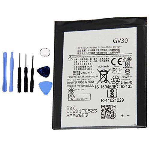 Ellenne Batteria Compatibile con Motorola GV30 Moto Z Droid SNN5972A XT1650-01 AD Alta capacità 2480MAH con Kit SMONTAGGIO Incluso