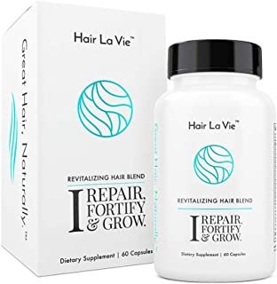 Hair La Vie Revitalizing Blend Hair Vitamins with Biotin, Collagen and Saw Palmetto for Fast Hair Growth for Women and Men