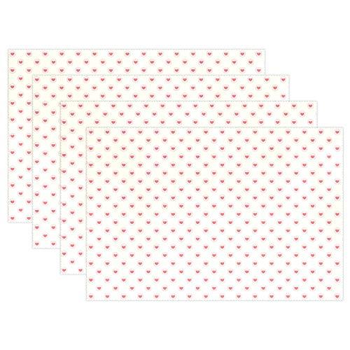Tovagliette termoresistenti Antiscivolo Cuoricini 12x18 Pollici 1 Pezzo per stuoie da Tavolo da Pranzo