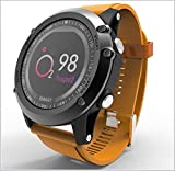 hwbq Smart Watch Sport IP68 Impermeable Oxígeno en la sangre Monitor de ritmo cardíaco Fitness Tracker Smartwatch Podómetro Mensaje Alarma Azul-Naranja
