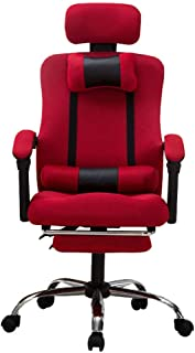 Adjustable office chairs ergonomic task chair computer games rotating folding armchair headrest lumbar support, with a foo...