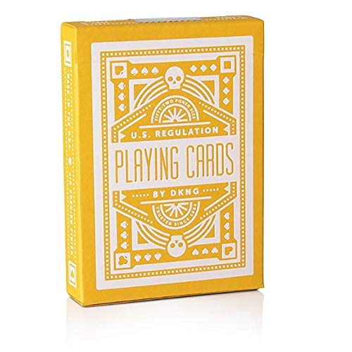 SOLOMAGIA Mazzo di Carte DKNG Yellow Wheels Playing Cards