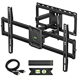 USX MOUNT Full Motion TV Wall Mount for Most 47-84 inch Flat Screen/LED/4K TVs, TV Mount Bracket Dual Swivel Articulating Tilt 6 Arms, Max VESA 600x400mm, Holds up to 132lbs, Up to 16' Wood Stud