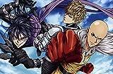 ZPDWT Puzzles 1000 piezas adultos Rompecabezas-Anime One-Punch Man-Educativo Intelectual Descomprimiendo Juguete Divertido Juego Familiar para niños Adultos 75*50cm