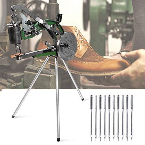 Máquina de coser mini máquina de coser de mano para adultos, máquina de reparación manual de zapatos, máquina de coser semiautomática manual de metal y nailon de algodón