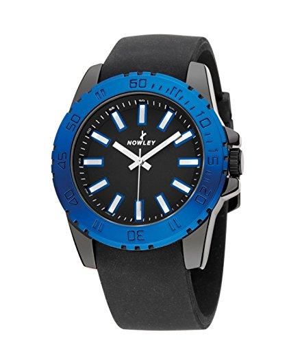 Reloj NOWLEY 8-5276-0-3 - Reloj Mujer 3 ATM con Cristal Mineral y Correa de Caucho Negra