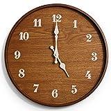 13 inch Modern Wall Clock | Handmade Wall Clocks for Living Room Decor | Great Kitchen Clock, Bathroom Clock, Farmhouse Clock, Rustic Wall Clock, Wall Clocks Battery Operated, or Farmhouse Wall Clock