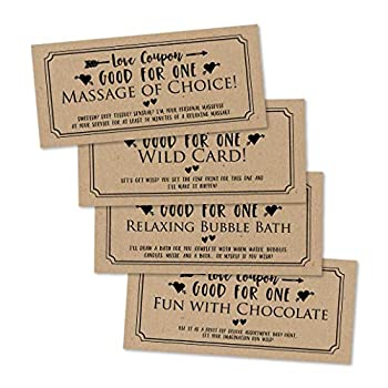 15 IOU Love Voucher Coupons For Him or Her Husband Wife Boyfriend or Girlfriend Couples Valentines Day Unique Birthday Funny Anniversary Romantic Christmas Gift Naughty I Owe You Cards