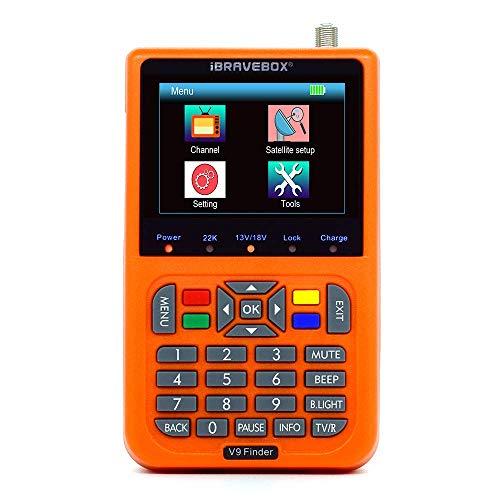 WYZXR V9 Digital Satellite Signal Finder Meter Eingebauter Li-Ionen-Akku, 3,5-Zoll-LCD-Display Full HD 16-Bit-OSD 64 MB 1 GB DDR3-Satellitenfernsehen