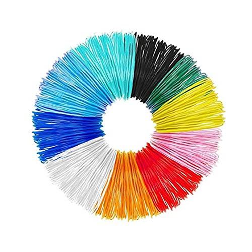 3D Pen Filament 10 Packs 1.75mm 3D Print PLA Filament Refills 16ft Colorful 3D Printer Filaments