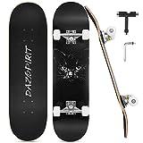 DazSpirit Skateboards, 31 x 8 Skateboard Completo de Doble Patada para Principiantes 7 Capas de Arce...