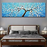 N / A Plum Blossom Oil Painting Is Used For Home Poster and Mural Picture Graphic Living Room Decoration Frameless 60x180cm